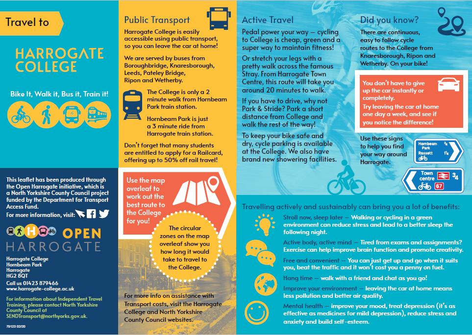Harrogate College Travel Info