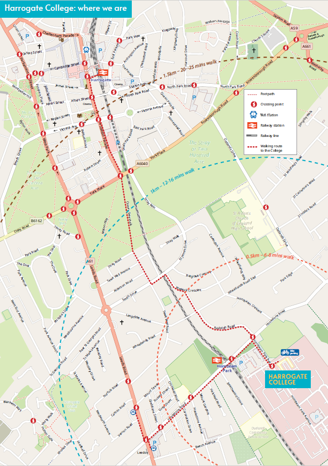 Harrogate College Travel Map